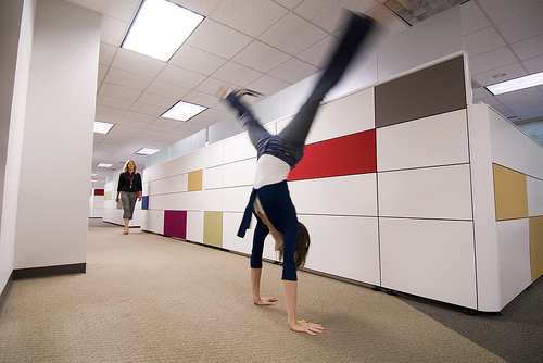 Cartwheels in the hallway