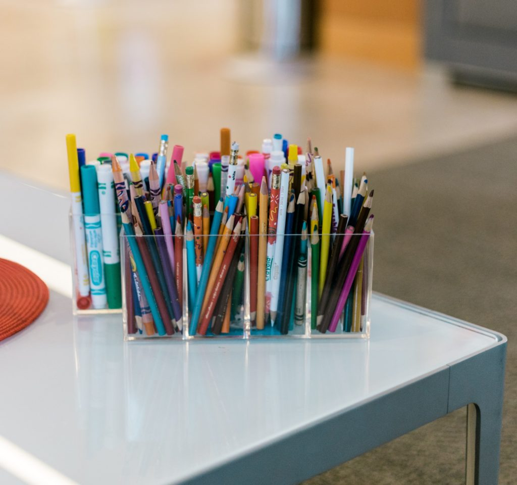 Colorful organizer on school desk commercial real estate companies in the bay area